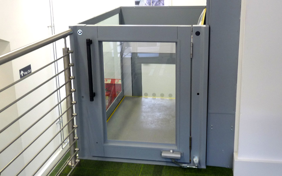 The Rise Domestic Platform Lift can either be a Single Entry Through Car or an Adjacent Exit